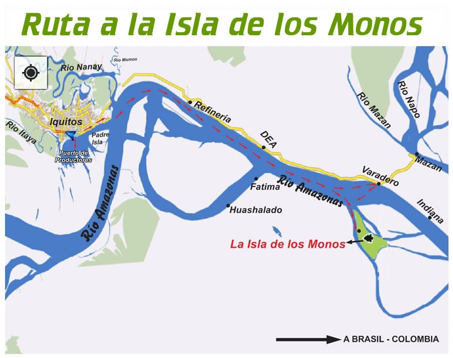 how to get to the monkey island rescue center from Iquitos